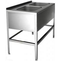 Ванна моечная hessen вмц 2/12755 (нерж)
