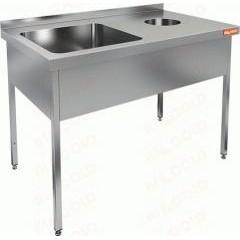 Ванна моечная с отверстием для сбора отходов hicold ндсо1м-12/6бл