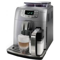 Автоматическая кофемашина saeco intelia evo steel/black hd 8752/84