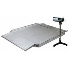 Промышленные платформенные электронные весы с пандусом с 4 датчиками 4d-la.s-2-1500 (нерж)